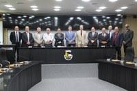 Câmara Municipal recebe Comitiva Portuguesa em comemoração ao 150 anos da  Banda Sociedade Musical Beneficente Campesina Friburguense