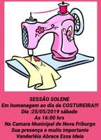 Câmara promove Sessão para o Dia da Costureira