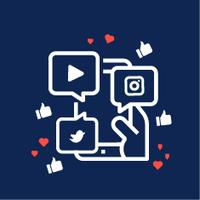 Desenhos dos diversos ícones das redes sociais